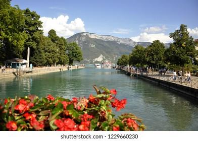 beautiful panorama on annecy lake