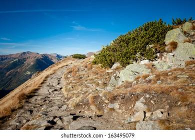 Beautiful panorama in Tatry mountains, Czerwone Wierchy, Cervene vrchy