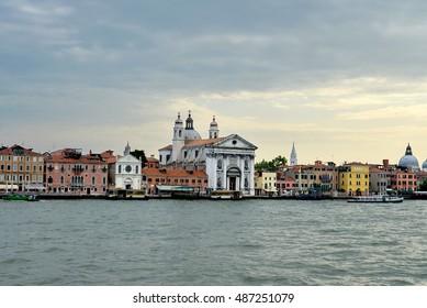 Beautiful panorama of Venice, Italy on sunrise