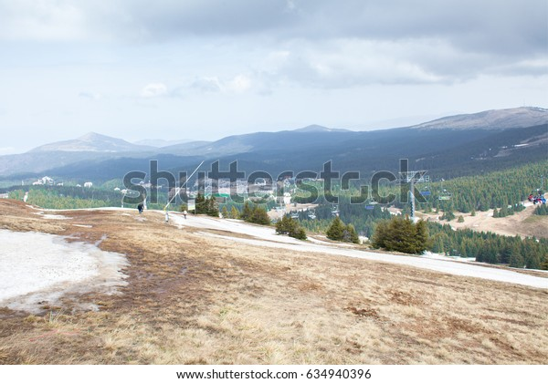 Beautiful panorama view with mountains in the background