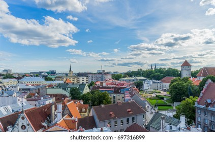 Beautiful panorama view of the Old Town in Tallinn Estonia