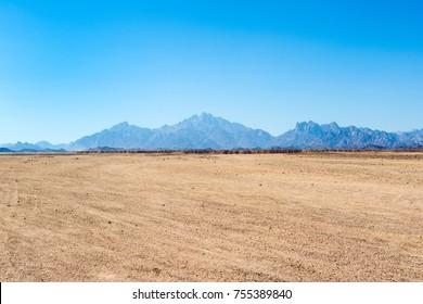Beautiful panoramic landscape of the Arabian desert