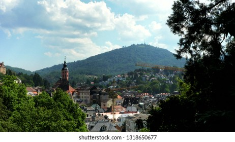 Beautiful panoramic landscape of Baden Baden, Germany at summer day
