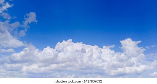 Beautiful panoramic landscape with the blue cloudy