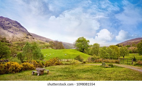 Beautiful panoramic landscape in Kenmare, 