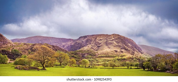 Beautiful panoramic landscape in Kenmare, County Kerry, Ireland