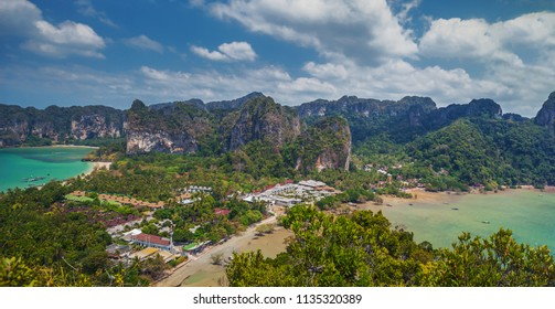 Beautiful panoramic landscape on Rayleigh's peninsula, Krabi, Thailand