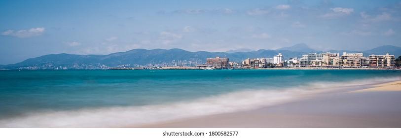 beautiful panoramic view of Can Pastilla, Ballermann, Mallorca, Spain