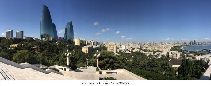 Beautiful panoramic view of the city.