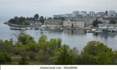 Beautiful panoramic view of Kingston, Ontario, Canada.
