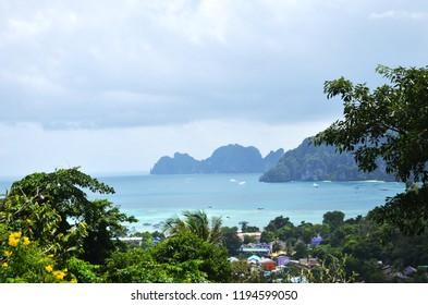 Beautiful Panoramic View of Koh Phi Phi in Thailand