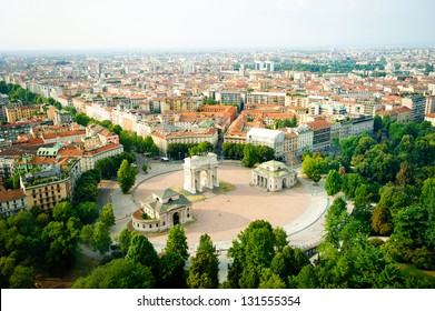 beautiful panoramic view of Milan