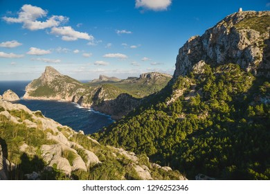 Beautiful panoramic view of Mirador es Colomer, Formentor on Mallorca, Balearic islands