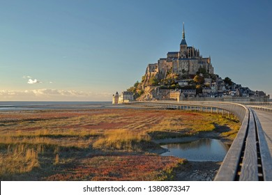 Beautiful panoramic view of Mont Saint-Michel, Normandy, France
