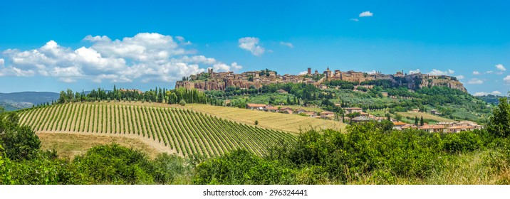 Beautiful panoramic view of the old town of Orvieto, Umbria, Italy