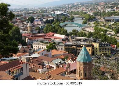 Beautiful panoramic view of Tbilisi in Georgia