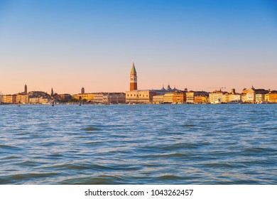 Beautiful panoramic view of Venice, view from the seaside. Italy