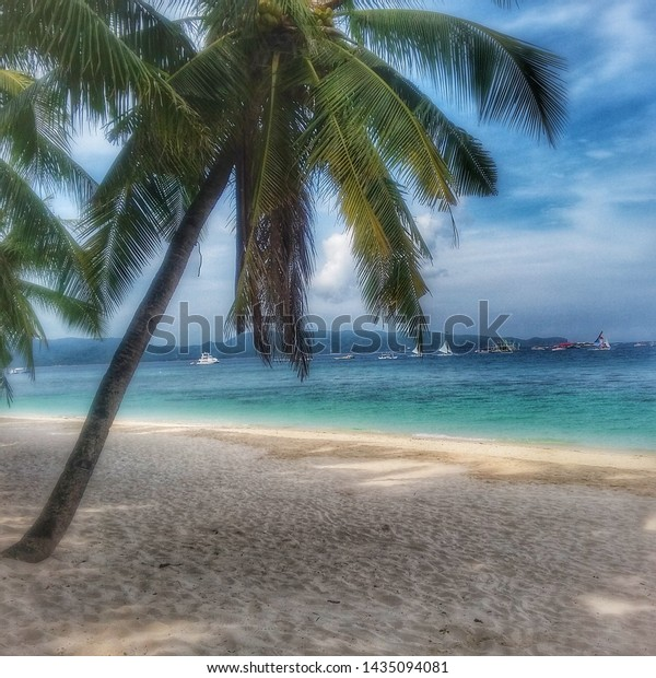 3D  PICTURE 400mm x 300mm PARADISE BORACAY ISLAND BEACH HUTS