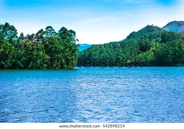 A beautiful paradise hill station in Munnar lake in southwestern Indian state of Kerala, must visit