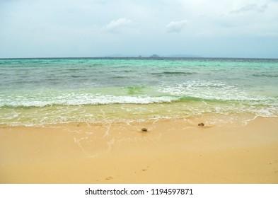 Beautiful Paradisiac Thai Beach with Light Blue Water