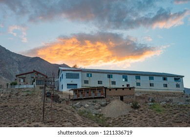 Beautiful paranomic nature and landscape twilight sunset of Kargil city in the Himalayas Ladakh, Leh.