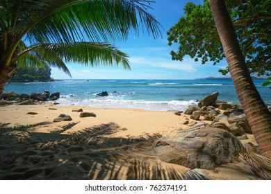 Beautiful paridise beach in Thailand, Phuket island.