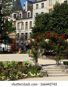 Beautiful parisian park