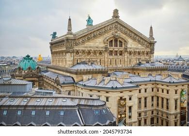 Beautiful Parisian skyline with Opera Garnier on a winter day. Landmarks of Paris, France - Shutterstock ID 2045793734