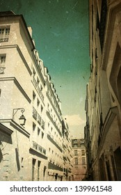 beautiful Parisian sunshine streets view,france Europe