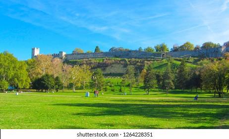A beautiful park beneath the Kalemegdan fortress