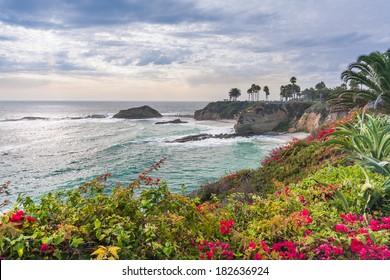 Beautiful park at Laguna Beach, California