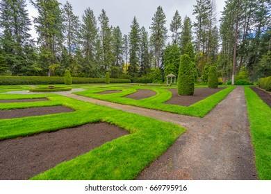 Beautiful park landscape. Manito Park and Botanical Gardens, Spokane, Washington, United States