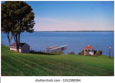 Beautiful park like setting along the shore of Oneida Lake in Cicero, New York