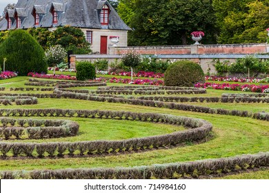 A beautiful park surrounds the Chateau de Chenonceau. The Chateau de Chenonceau is located in Chenonceau near Amboise in the Loire Valley. France.