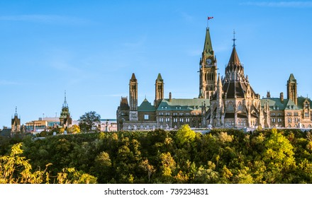 Beautiful Parliament Hill in Ottawa Canada during Sunset