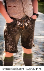 Beautiful part of a typical Bavarian clothing