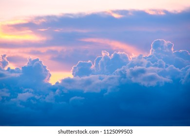 Beautiful pastel cloud and sky