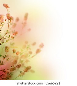 Beautiful Pastel Floral Border