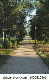Beautiful path in the morning Park