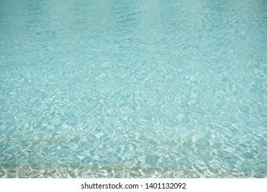 Beautiful pattern of blue water