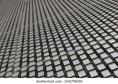 Beautiful Pattern of Metal Plank on the Buillding Rooftop