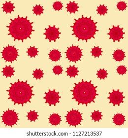 Beautiful pattern for wallpaper, backgrounds and fabrics