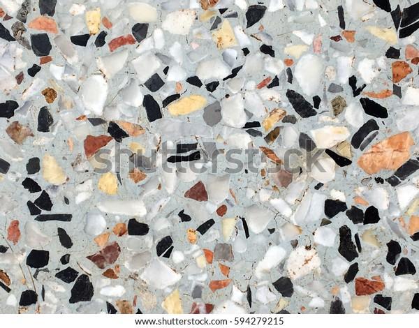 Beautiful Patternstexture Surface Terrazzo Floor Stock Photo