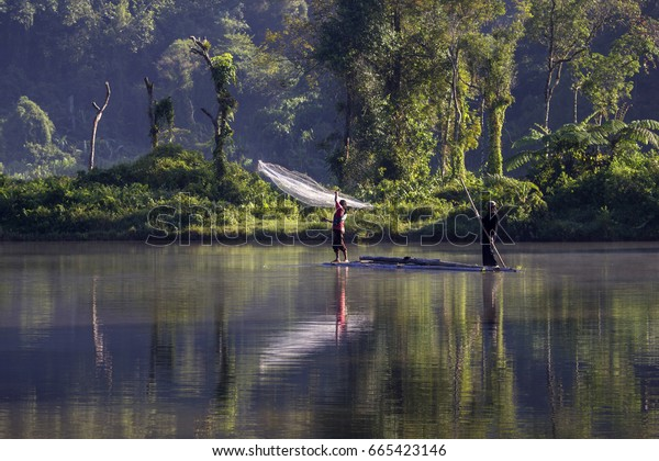 Beautiful and Peaceful Lake of Situ Gunung in Sukabumi West Java Indonesia. 24 August 2013