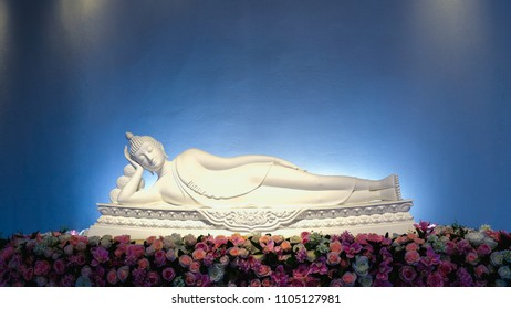 Beautiful and peaceful Reclining Buddha at Wat Pha Sorn Kaew in Phetchabun, Thailand