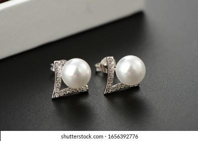 A beautiful Pearl Ear studs