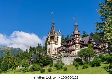 The beautiful Peles Castle in Sinaia, Romania