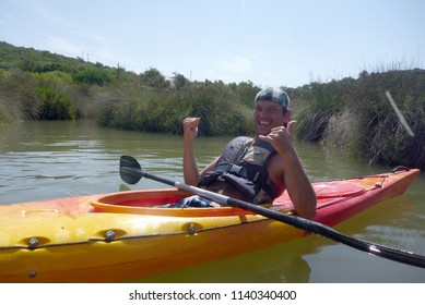 beautiful people kayaking