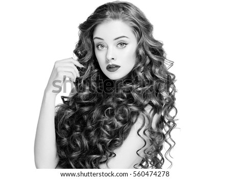 Beautiful People Woman Curly Hair Fashion Stock Photo Edit Now