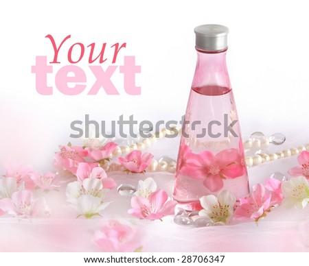 Beautiful perfume background pink white flowers stock photo edit beautiful perfume background with pink and white flowers mightylinksfo